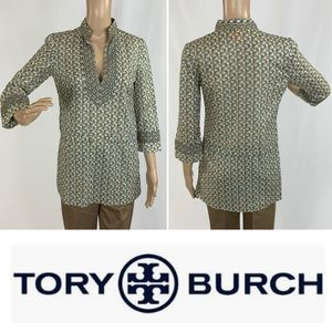 TORY BURCH 3/4 sleeve elephant tunic